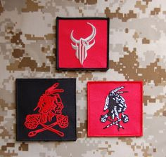 Devgru Red Squadron Patch Nswdg Red Squadron Patch Set