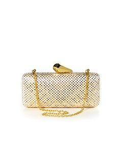 Milla Sparkling Structured Clutch - Mixed Metal  $47