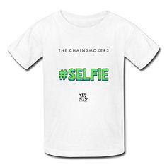 Kid's The Chainsmokers Dm Mak Selfie T-shirts White XXXX-L