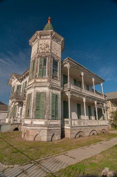 Gustave Heye house (c. 1880) at 1226 Postoffice Street, a corner of 13th Street. Galveston, Texas, January 19, 2013