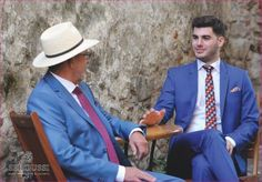 Blue suits - for any generation Blue Suits, Summer Heat, Spring Summer 2015, Panama Hat, Trousers, Jackets, Collection, Fashion, Pants