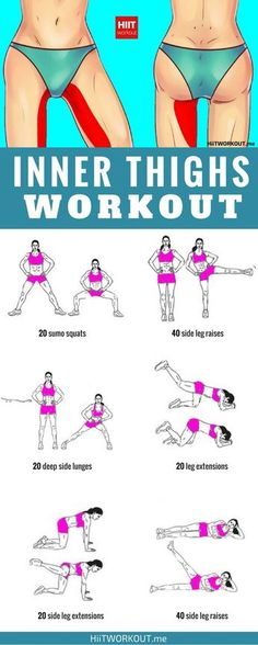 Inner leg workout to do at home or at the gym. – Jess D Inner leg workout to do at home or at the gym. Inner leg workout to do at home or at the gym. Fitness Workouts, Inner Leg Workouts, Easy Workouts, Fitness Diet, Fitness Motivation, Health Fitness, Exercises For Thighs, Inner Thigh Exercises, Workout Exercises