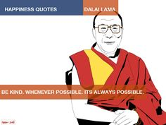 His holiness 14th Dalai Lama. Illustration by Kenneth @ buddha jeans