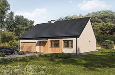Projekt domu Murator C365j Przejrzysty - wariant X 104,5 m2 - koszt budowy - EXTRADOM My House Plans, Shed, Outdoor Structures, Cabin Ideas, Home, Trendy Tree, Homes, Lean To Shed, House