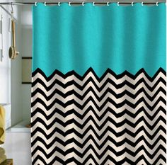 chevron shower curtain. OH!