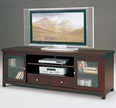 Norris Entertainment Console with Storage by Crown Mark