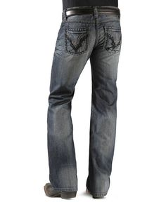 Rock & Roll Cowboy Jeans - Tribal Pocket Pistol Jeans