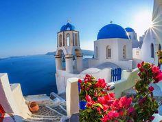 Dreaming of summer in Santorini. #travel #summer #greece #santorini #vacation…