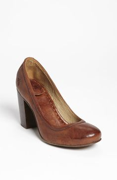 Frye 'Carson' Pump...oh man. This is such a good shoe, good heel height, beautiful leather, reliable brand.