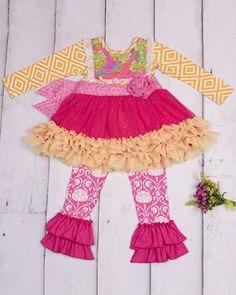 Fall 2014 Giggle Moon Glory Shines Tutu Dress W/Leggings Pre-Order