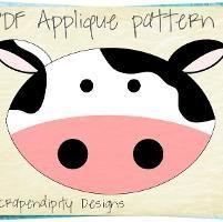 Cow Farm Animal Applique Shirt Quilt  - via @Craftsy