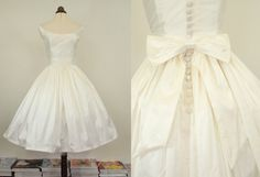 Hey, I found this really awesome Etsy listing at http://www.etsy.com/listing/113131762/fifties-short-wedding-dress-meg-made-to
