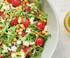 Salát sgrilovanými rajčaty, cizrnou afetou | Recepty Albert Cobb Salad, Fitness, Food, Essen, Meals, Yemek, Eten