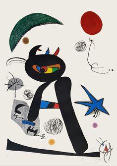 """Joan Miró """"Barbare dans la Neige"""" Grabado al Aguafuerte y Aguatinta Año: 1976 Dimensiones: 106,5 x 74,5 cm Tirada de 50 ejemplares Firmado y numerado a mano Certificado por la Fundació Joan Miró Dupin 928 Precio: Consultar web  Web: www.grabadosylitografias.com  Más información: galeria@grabadosylitografias.com"""