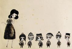 snow white and the 6 dwarves. For Tori's collective nouns collab :) - Keywords: Collective Nouns, Dwarf