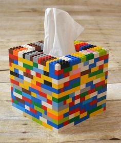 Is your house overrun with LEGOs? TheseCreative ways to build LEGOS will have you putting them to new and fun uses in no time! Is your house overrun with LEGOs? These creative ways to build legos will have you putting them to new and fun uses in no time! Upcycled Crafts, Upcycled Home Decor, Diy And Crafts, Tissue Box Covers, Tissue Boxes, Deco Lego, Casa Lego, Lego Activities, Summer Activities
