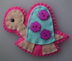 cute turtle - I need to make this as a Christmas ornament too.