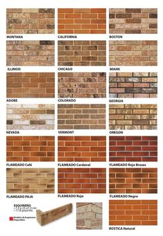 Stone Wall Design, Brick Design, Facade Design, House Design, Brick Wall Paneling, Exposed Brick Walls, Faux Brick Walls, Types Of Bricks, Brick Interior