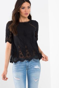 Spring Embroidered Boxy Tee