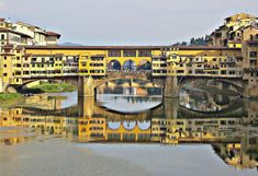"Ponte Vecchio Bridge is one of the great icons of Florence and considered to be one of the most famous bridges in the world. The Ponte Vecchio Bridge (meaning ""Old Bridge"") Tickets To Italy, Travel Around The World, Around The Worlds, Famous Bridges, Italy Spain, The Beautiful Country, History Facts, Florence, Places Ive Been"
