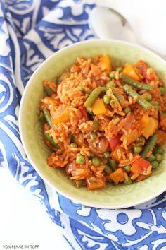 Das heutige Gericht ist genauso lecker, wie es klingt! Jambalaya ist aber auch wirklich ein schöner Name, für eine Reispfanne, findet ihr nicht? Bunt zusammen gewürfelte Reisgerichte sind typisch für