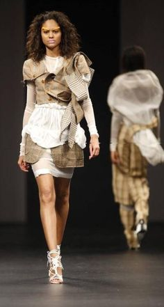 A garment from Clive Rundle's Recycled Collection. Pic courtesy Sanlam Fashion Week