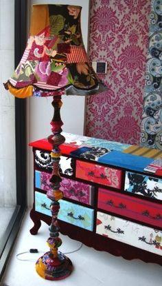 #wallpaper #lamp #dresser  #creative #DIY