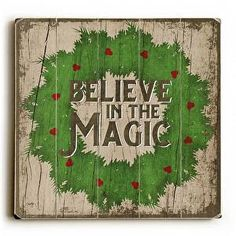 A beautiful reminder to believe in the magic of the season, this Believe Wood Sign will be bring a vintage feel to your holiday decor.