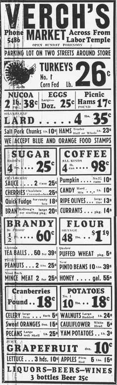 31 Thanksgiving grocery ads from Tucson's past
