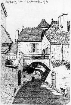 Dibujos, croquis y acuarelas del Arq. Minond