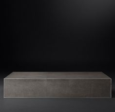 Shagreen Cube Rectangular Coffee Table