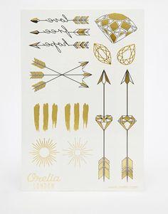Orelia Gems and Arrow Metallic Temporary Tattoos