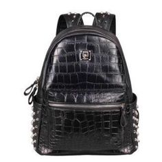 """Korean Black Crocodile pattern Style Studs Backpack SD01786  Price:$42.95 Coupon code """"BF20 for 20%off Coupon code """"CYBER 25% Off orders over $100 Check for more info on our store www.syndromestore.com 🌎🌍🌏worldwide freeshipping Please leave a feedback on our store❤️ Customer satisfaction is very important to us  Thank you for your support💕 #harajuku#kawaii#japan#korea#japanese#korean#harajukushop#kawaiishop#fashion#cute #officialsyndromestore…"""