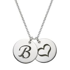 Silver Personalized Charm Necklace