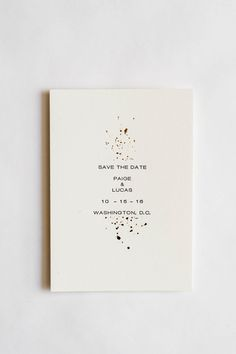 Gold Foil and Letterpress Wedding Invitation
