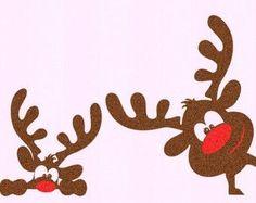 Christmas SVG Girl Reindeer Peeping Peeking Reindeer SVG, EPS Png Dxf, Silhouette Cricut, vector Clip Art graphics Vinyl Cutting Machines - Chica Reno leerlo SVG EPS Png DXF archivos de por JenCraftDesigns Imágenes efectivas que le proporc - Office Christmas, Christmas Door, Christmas Time, Diy And Crafts, Christmas Crafts, Christmas Decorations, Monogram Frame, Window Stickers, Merry