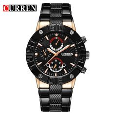 Top Business Men Male Luxury Watch Casual Full steel Wristwatches Quartz Watches