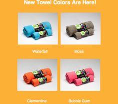 new towel colors!