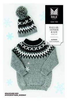 Rallargenser til barn (Lothepus-genseren fra Fjorden Cowboys) Knitting Pullover, Handgestrickte Pullover, Knitting Wool, Fair Isle Knitting, Sweater Knitting Patterns, Knitting For Kids, Baby Knitting, Hand Knitted Sweaters, Baby Sweaters