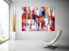 Extra Large Wall Art Palette Knife Artwork Original Painting on Canvas Huge Size Art Modern Wall Decor Contemporary Art Modern Wall Decor, Modern Art, Contemporary Art, Large Abstract Wall Art, Extra Large Wall Art, Flower Wall, Wall Collage, Design Art, Wall Design