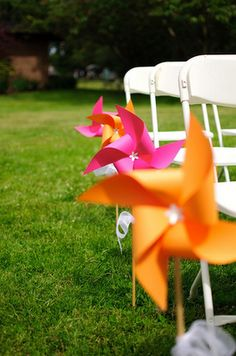 Wedding Inspiration: Aisle Pinwheels :  wedding ceremony decor houston Picture Picture