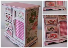 Cute for a girls room. A refurbished vintage jewelry box