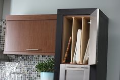 Tray Dividers for Kitchen Cabinet Storage. Now you can conquer.