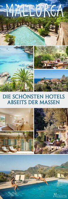 Abseits der quirligen Touristenzentren könnt ihr das wahre Mallorca entdecken. Hier im Landesinneren verstecken sich kleine, romantische Hotels - Fincahotel genannt - und bieten einen Urlaub inmitten wunderschöner Natur und himmlischer Ruhe. Hier könnt ihr die Seele baumeln lassen und Land & Leute kennenlernen. So habt ihr Mallorca noch nicht entdeckt! #mallorca #urlaub #fincahotel #fincaurlaub #kleineshotel #hotel