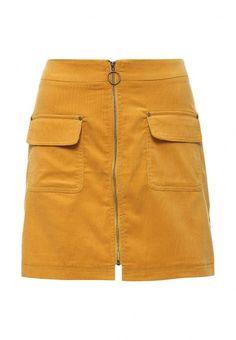 Вельветовая юбка Befree выполнена из плотного хлопкового текстиля. Детали: трапециевидный крой, спереди застежка на молнию, боковые карманы.
