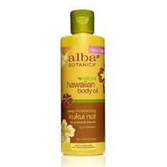 Alba Botanica Hawaiian Deep Moisturizing Kukui Nut Body Oil 8.5oz #PharmacaDreamMakeupBag