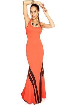Sexy Orange Maxi Dress | clothing-dress-kk89c-zc1466redorange.jpg