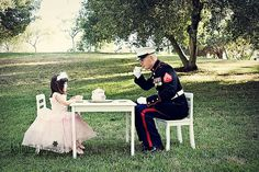 HOLY CRAP! THIS NEEDS TO HAPPEN! Grace loves when her daddy wears his uniform, this would just make her ecstatic!