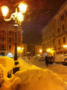 Campobasso under snow - Italy, febraury 2012, , province of Campobasso , Molise region Italy