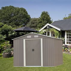 Ainfox 8'X8' Storage Shed with Foundation Kit >>> Click image to review more details.-It is an affiliate link to Amazon.